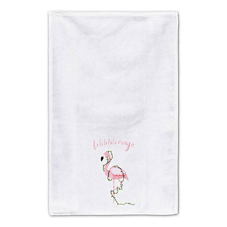 Designs Direct Holiday Flamingo Towel, 5868-I