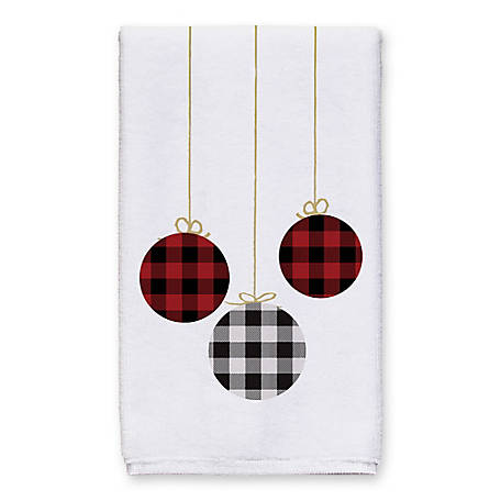 Designs Direct Plaid Ornaments Towel, 5868-M