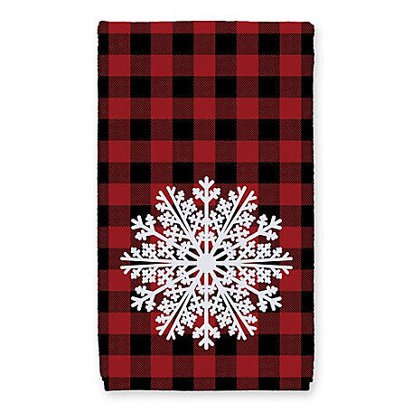 Designs Direct Red Plaid Snowflake Towel, 5868-O