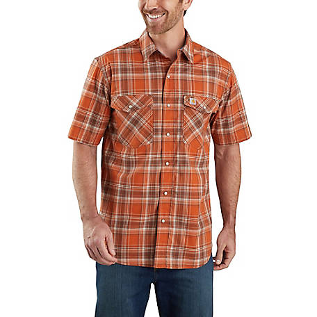 Carhartt Men's Rugged Flex Plaid Short Sleeve Shirt