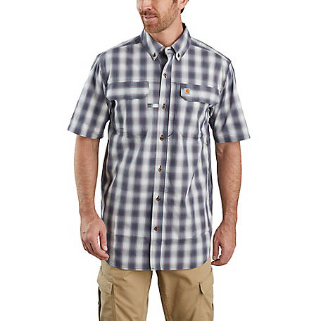 Carhartt Men's Force Lightweight Short Sleeve Plaid Shirt