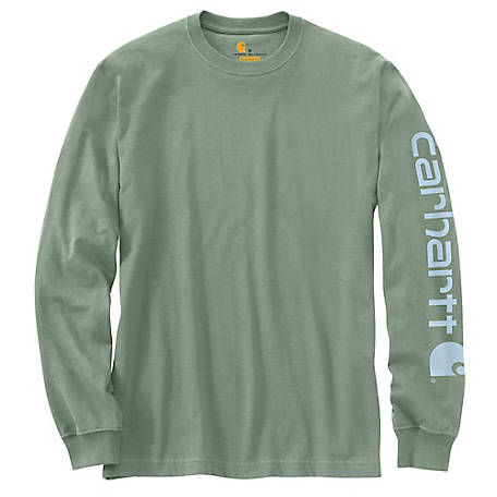 Carhartt Men's Long Sleeve Graphic Logo Tee Shirt, K231