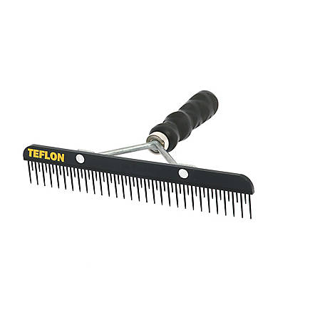Sullivan Supply 6 in. Teflon Fluffer Comb with Texture Grip Handle, 6TSFW
