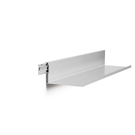 Hangman 42 in. No Stud Floating Shelf, Clear Alum, L-42-C