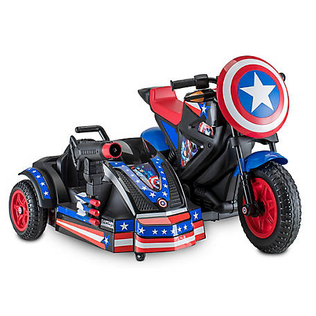 Kid Trax Captain America Motorcycle 12V, KT1299WM