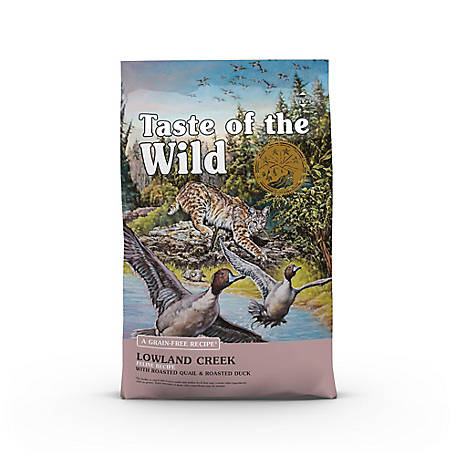 Taste of the Wild Lowland Creek Feline Formula with Roasted Quail & Roasted Duck, 5 lb.