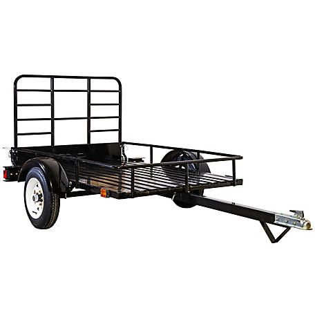 DK2 Power 4 ft. x 6 ft. Utility Trailer Kit, Black powder coated with Open Sides, MMT4X6O