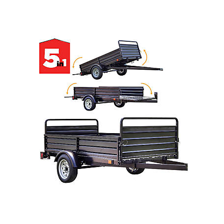 DK2 4.5 ft. x 7.5 ft.: 5-in-1 Utility Trailer with Black Powder Coated -MMT5X7