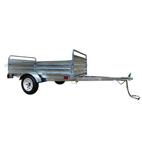 DK2 4.5 ft. x 7.5 ft. Utility Trailer with Hot dipped flash coated Galvanized, MMT5X7G