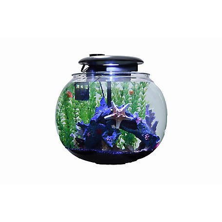 Penn-Plax 10 gal. Aquasphere High-Strength Acrylic Aquaponic Tank, AS360