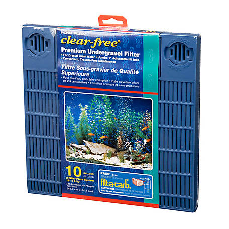 Penn-Plax Clear-free Premium Under Gravel Filter, 10 gal., CFU10