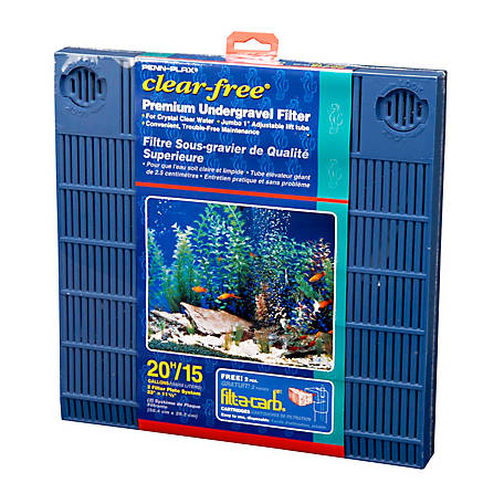 Penn-Plax Clear-free Premium Under Gravel Filter, 15-20 gal., CFU20