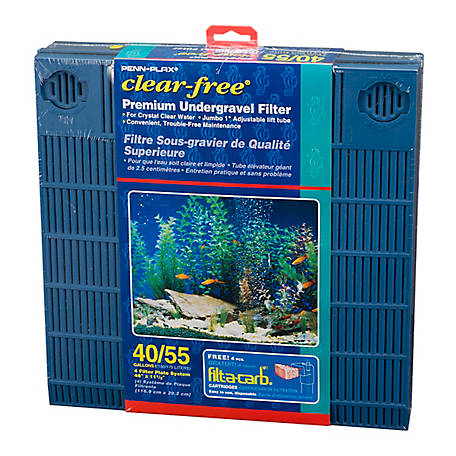 Penn-Plax Clear-free Premium Under Gravel Filter 50-55 gal., CFU55