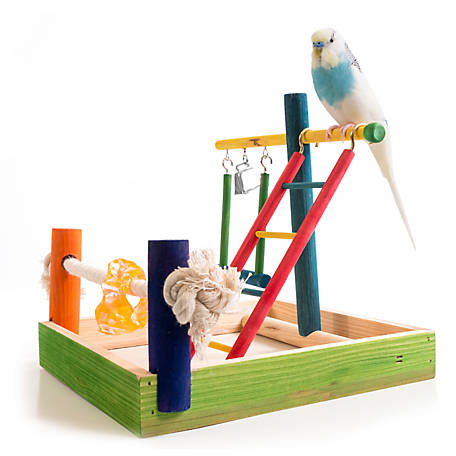 Penn-Plax Wood Bird Play Pen, Small, BA145