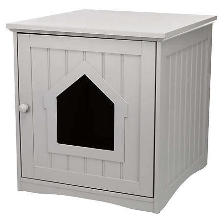 TRIXIE Pet Products Standard Wood Litter Box Enclosure Gray, 40291