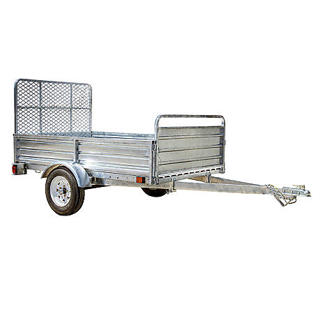 DK2 4.5 ft. x 7.5 ft. Utility Trailer Galvanized with Drive Up Gate, Model #: MMT5X7G-DUG
