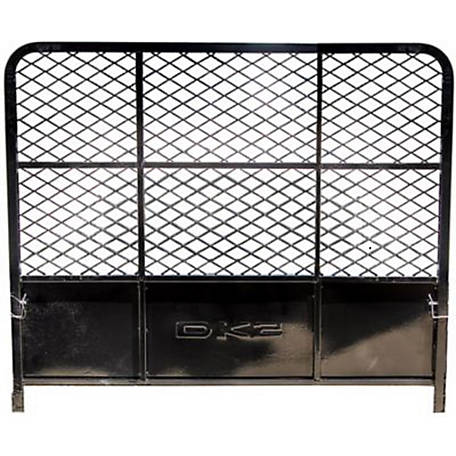DK2 Drive Up Gate for MMT5X7 Trailer with Black Powder Coated Finish, 5X7-DUG