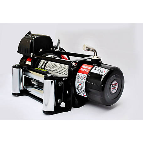 DK2 Spartan Series 9500 lb Electric Planetary Gear Winch with steel cable- 9500