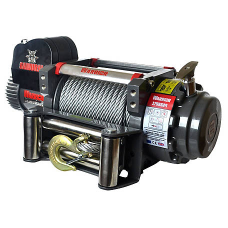 DK2 Samurai 17,500 lb. Electric Planetary Winch with Galvanized Steel Cable - S17500