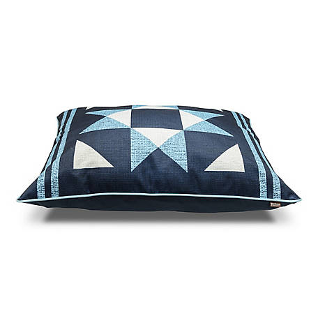 MuttNation Fueled by Miranda Lambert 31 in. x 41 in. Blue Star Burst Pillow Bed, 100542191