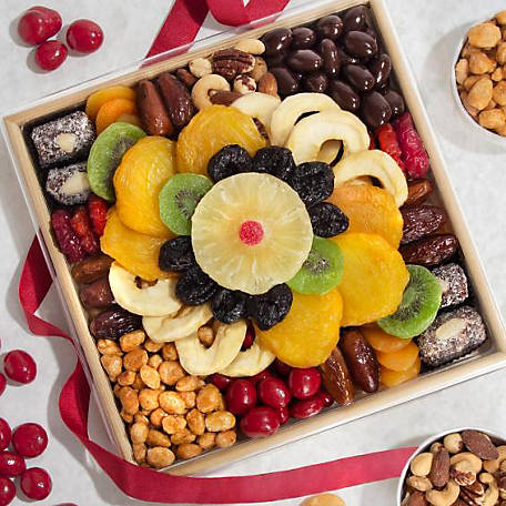 Golden State Fruit Festive Dried Fruit Nuts and Sweets Tray, AA6004