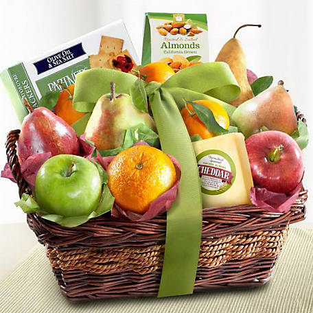 Golden State Fruit Cheese and Nuts Classic Fruit Basket, AP8019