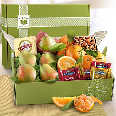 Golden State Fruit Harvest Favorites Fruit and Groumet Gift Box, AB2022