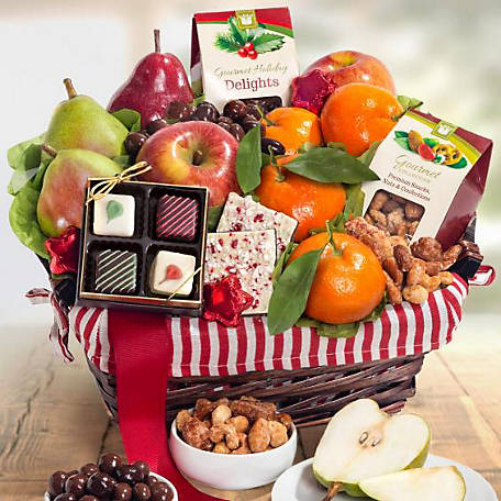 Golden State Fruit Holiday Treasures Fruit Basket, AA4050