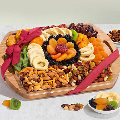 Golden State Fruit Dried Fruit And Snacks On Serving Platter, AP8076