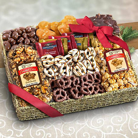 CY Chocolates Chocolate Caramel and Crunch Grand Gift Basket, AA4056