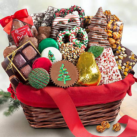 CY Chocolates Holiday Chocolate Bliss Assortment Gift Basket, AA9001H
