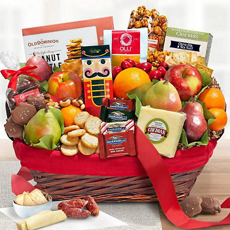 Golden State Fruit Holiday Tidings Deluxe Gourmet Basket, AA5005