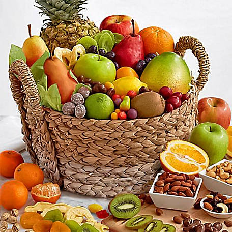 Golden State Fruit Ultimate Fruit And Snack Keepsake Basket, AA6045
