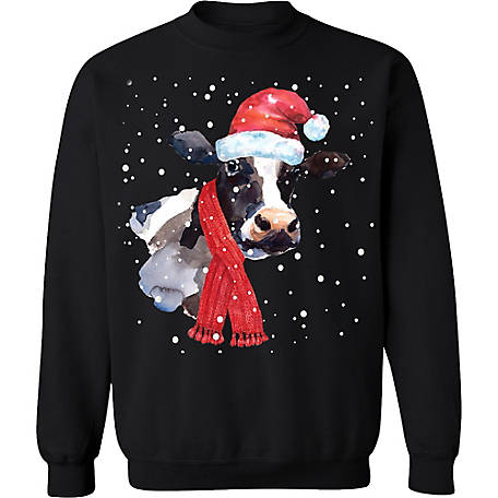 Farm Fed Clothing Men's Moo Xmas Gear Christmas Fleece, TSC1094