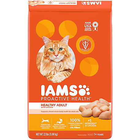 Iams PROACTIVE HEALTH Adult Healthy Dry Cat Food with Chicken, 22 lb. Bag, 22lb