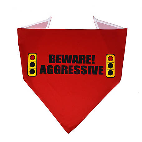 Yellow Dog Design Caution Beware Aggressive Light Bandana, BARL520