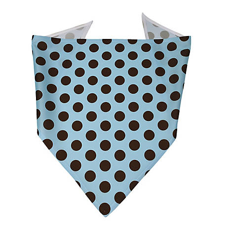 Yellow Dog Design Blue and Brown Polka Dot Uptown Bandana, BBP520