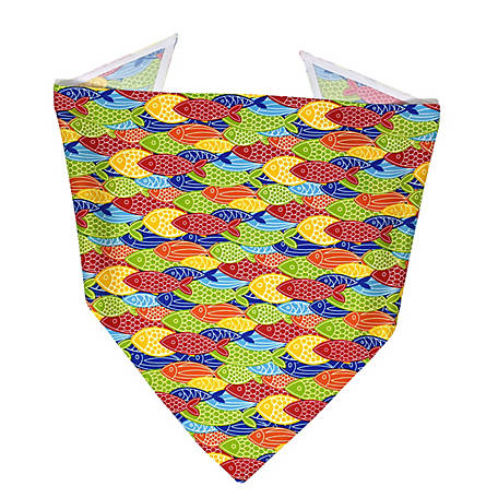 Yellow Dog Design Colorful Fish Bandana, COFI520