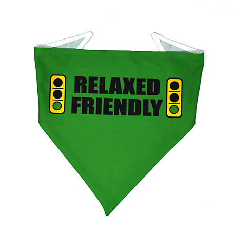 Yellow Dog Design Caution Relaxed Friendly Light Bandana, CRFL520
