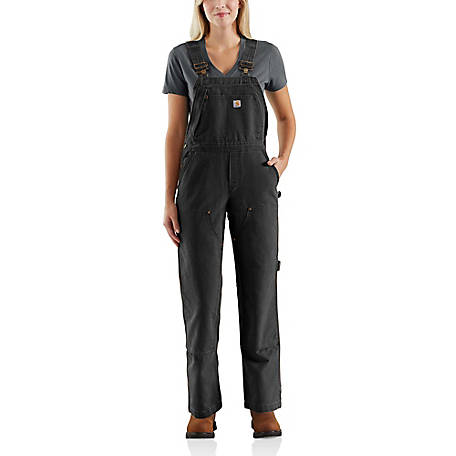 Carhartt Women's Weathered Duck Unlined Wildwood Bib Overall, 102966