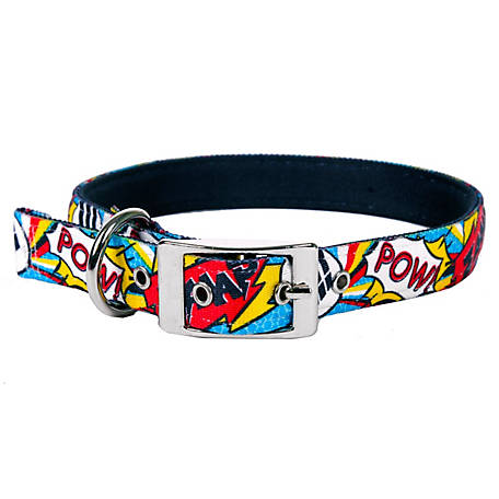 Comics Print Pop Art Standard Dog Collar Yellow Dog Design Art Inspired Large 18-28 1 Wide