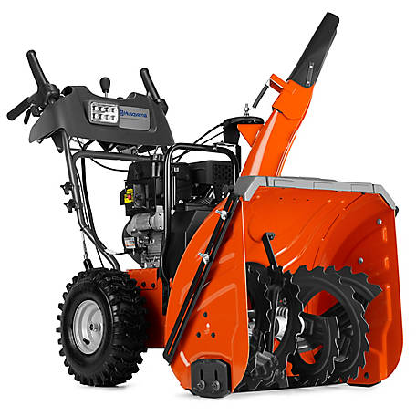Husqvarna ST324P 24 in. 254CC LCT Two-Stage Electric Start Gas Snow Blower  with Power Steering, 961930091 at Tractor Supply Co.