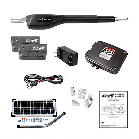 Mighty Mule Medium Duty Single Rancher Solar Panel Kit, RSCK371W