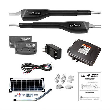 Mighty Mule Medium Duty Dual Rancher Solar Panel Kit, RSCK372W