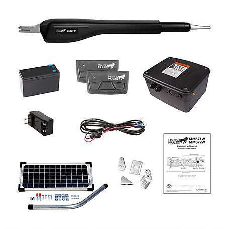 Mighty Mule Heavy Duty Single Rancher Solar Panel Kit, RSCK571W