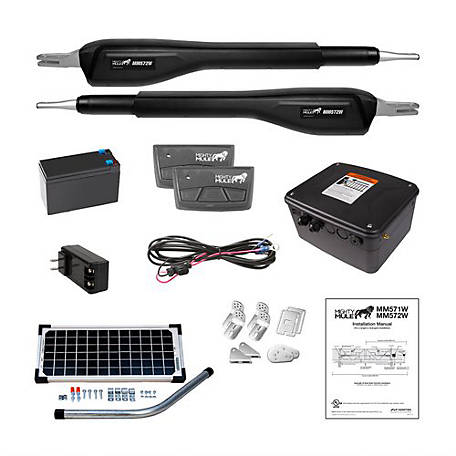 Mighty Mule Heavy Duty Dual Rancher Solar Panel Kit, RSCK572W