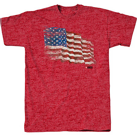 Tractor Supply Men's Short Sleeve Torn Flag T-Shirt