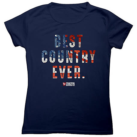 Tractor Supply Unisex Boy's Short Sleeve 'Best Country Ever' T-Shirt