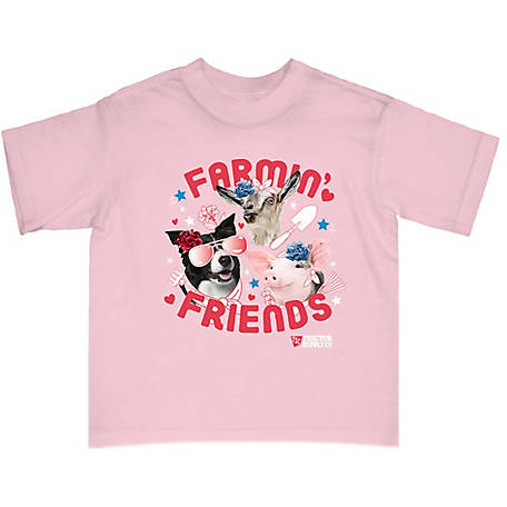 Tractor Supply Unisex Toddler's Short Sleeve Farmin' Friends T-Shirt