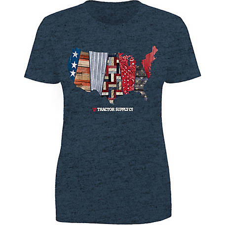 Tractor Supply Women's Short Sleeve Pattern US Map T-Shirt
